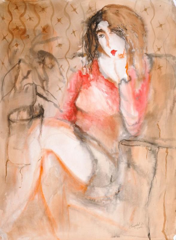 0226. Девушка в красном